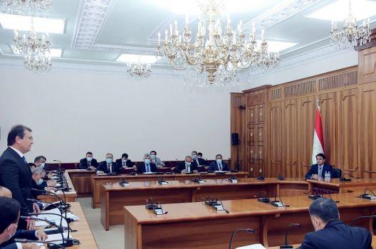 рабочее совещание мэрии Душанбе